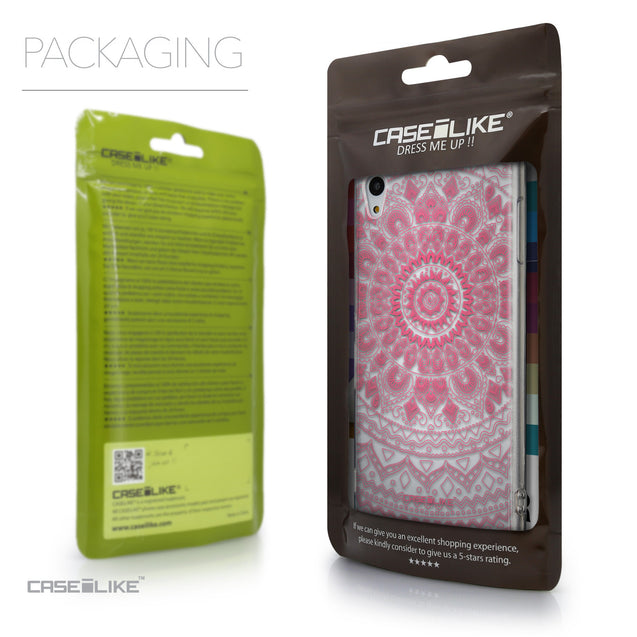 Packaging - CASEiLIKE Sony Xperia Z3 Plus back cover Indian Line Art 2062