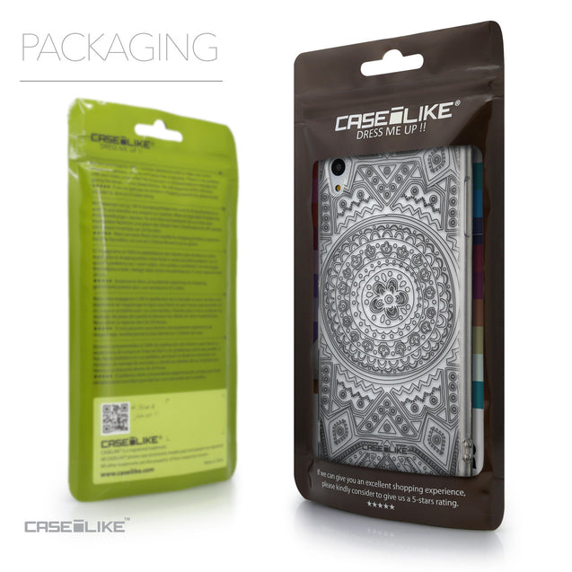 Packaging - CASEiLIKE Sony Xperia Z3 Plus back cover Indian Line Art 2063