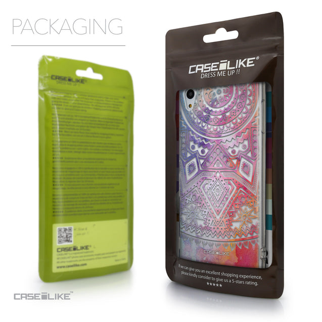 Packaging - CASEiLIKE Sony Xperia Z3 Plus back cover Indian Line Art 2065