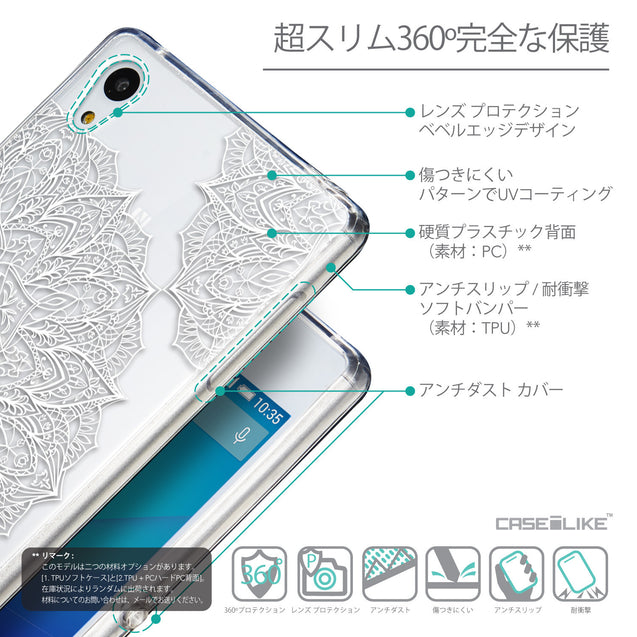 Details in Japanese - CASEiLIKE Sony Xperia Z3 Plus back cover Mandala Art 2091