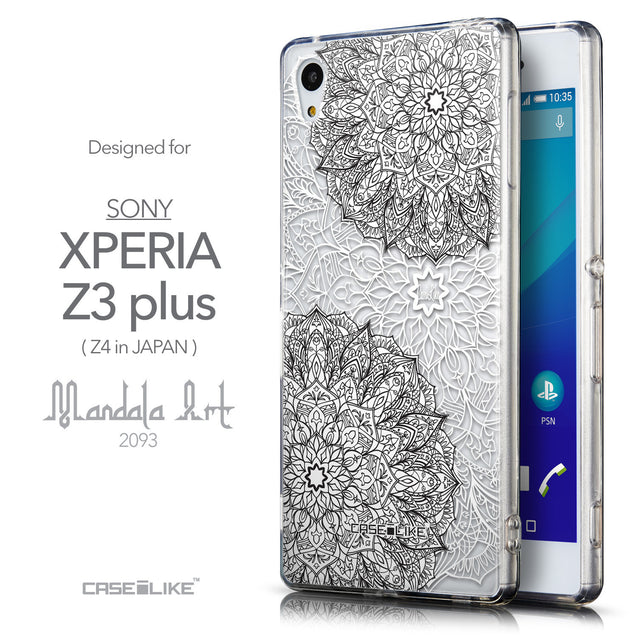 Front & Side View - CASEiLIKE Sony Xperia Z3 Plus back cover Mandala Art 2093