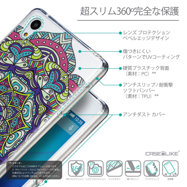 Details in Japanese - CASEiLIKE Sony Xperia Z3 Plus back cover Mandala Art 2094