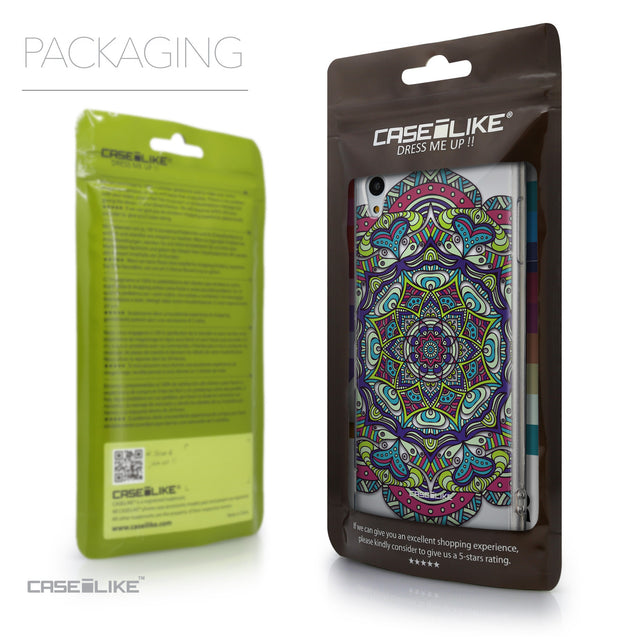 Packaging - CASEiLIKE Sony Xperia Z3 Plus back cover Mandala Art 2094