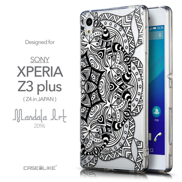 Front & Side View - CASEiLIKE Sony Xperia Z3 Plus back cover Mandala Art 2096