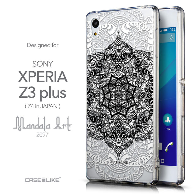 Front & Side View - CASEiLIKE Sony Xperia Z3 Plus back cover Mandala Art 2097
