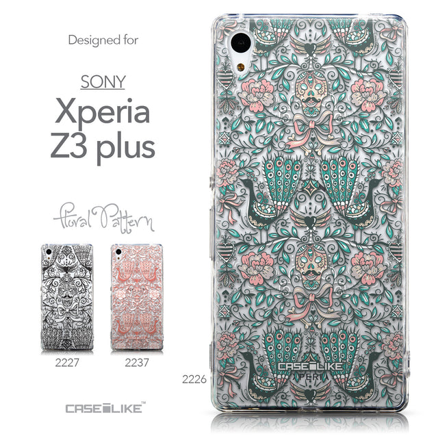 Collection - CASEiLIKE Sony Xperia Z3 Plus back cover Roses Ornamental Skulls Peacocks 2226