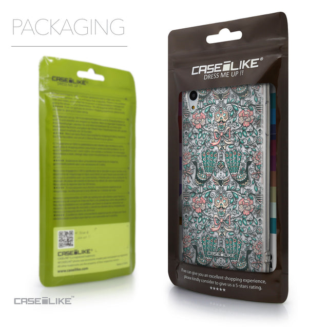 Packaging - CASEiLIKE Sony Xperia Z3 Plus back cover Roses Ornamental Skulls Peacocks 2226