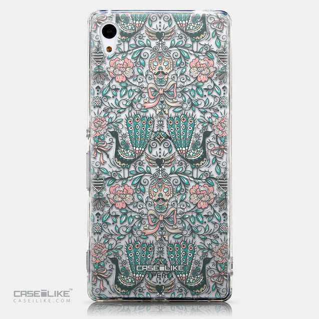 CASEiLIKE Sony Xperia Z3 Plus back cover Roses Ornamental Skulls Peacocks 2226