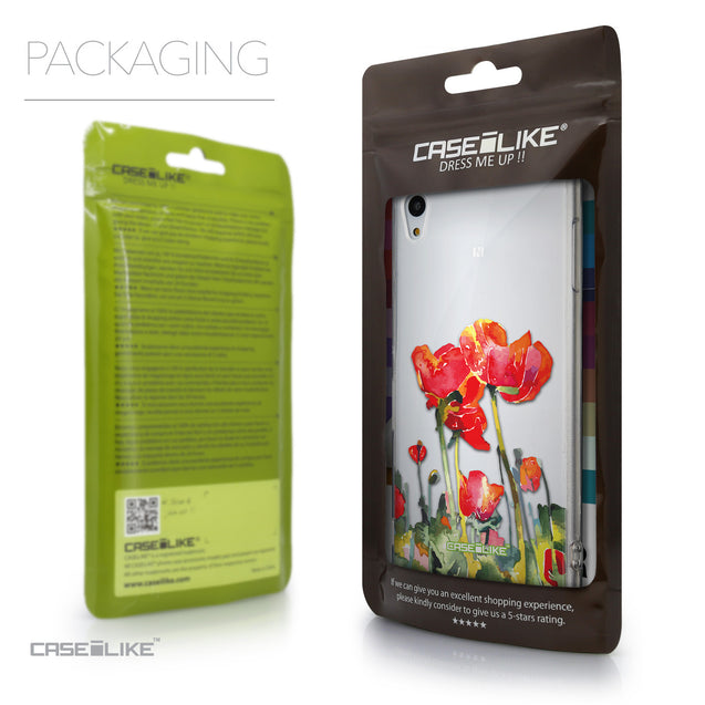 Packaging - CASEiLIKE Sony Xperia Z3 Plus back cover Watercolor Floral 2230