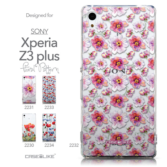 Collection - CASEiLIKE Sony Xperia Z3 Plus back cover Watercolor Floral 2232
