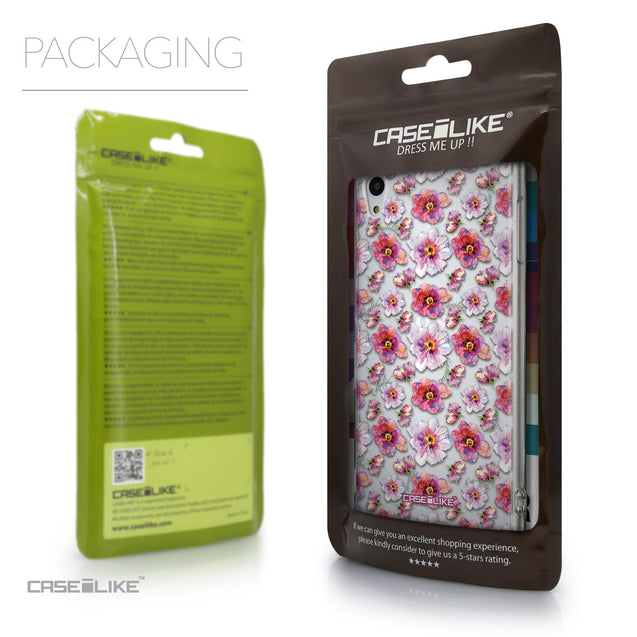 Packaging - CASEiLIKE Sony Xperia Z3 Plus back cover Watercolor Floral 2232