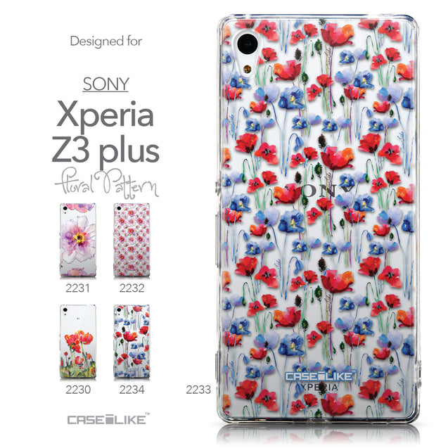 Collection - CASEiLIKE Sony Xperia Z3 Plus back cover Watercolor Floral 2233