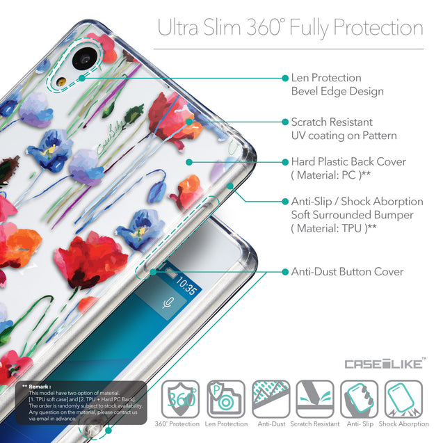 Details in English - CASEiLIKE Sony Xperia Z3 Plus back cover Indian Line Art 2061