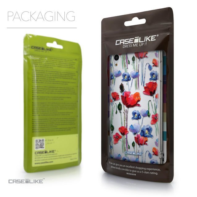 Packaging - CASEiLIKE Sony Xperia Z3 Plus back cover Indian Line Art 2061