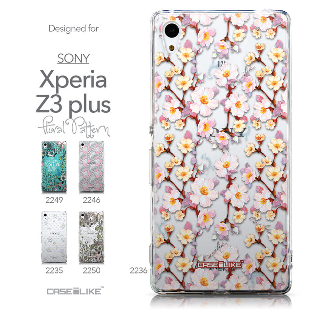 Collection - CASEiLIKE Sony Xperia Z3 Plus back cover Watercolor Floral 2236