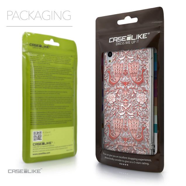 Packaging - CASEiLIKE Sony Xperia Z3 Plus back cover Roses Ornamental Skulls Peacocks 2237
