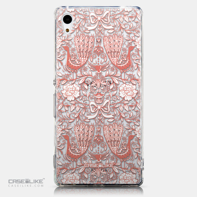 CASEiLIKE Sony Xperia Z3 Plus back cover Roses Ornamental Skulls Peacocks 2237