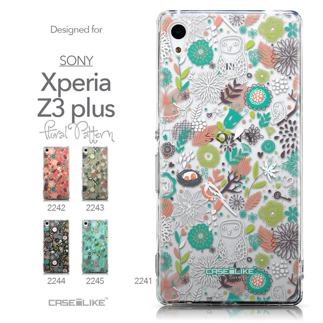 Collection - CASEiLIKE Sony Xperia Z3 Plus back cover Spring Forest White 2241