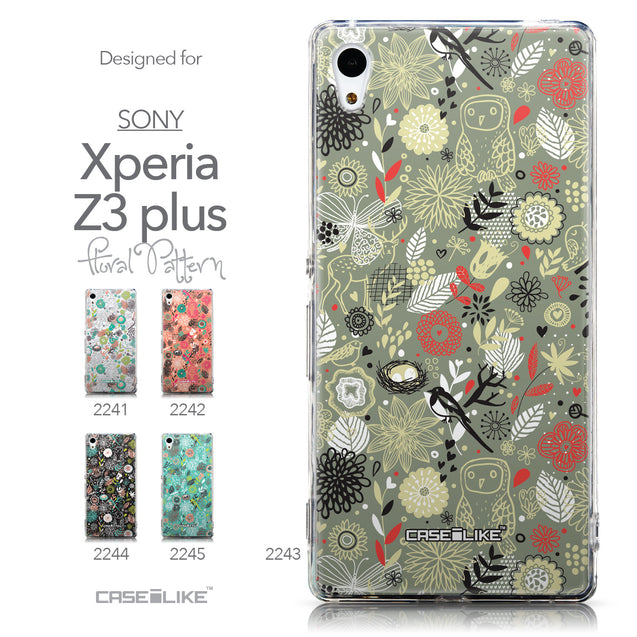 Collection - CASEiLIKE Sony Xperia Z3 Plus back cover Spring Forest Gray 2243