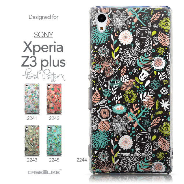 Collection - CASEiLIKE Sony Xperia Z3 Plus back cover Spring Forest Black 2244