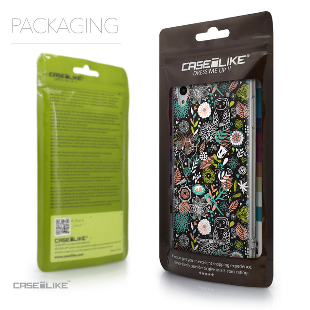 Packaging - CASEiLIKE Sony Xperia Z3 Plus back cover Spring Forest Black 2244