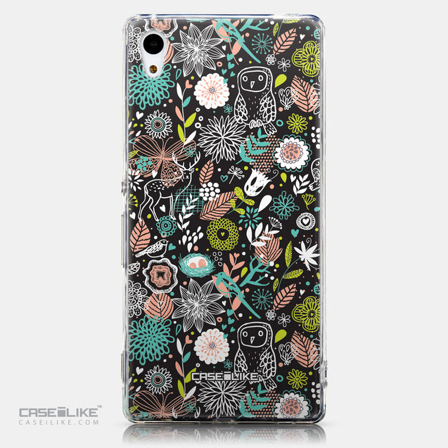 CASEiLIKE Sony Xperia Z3 Plus back cover Spring Forest Black 2244