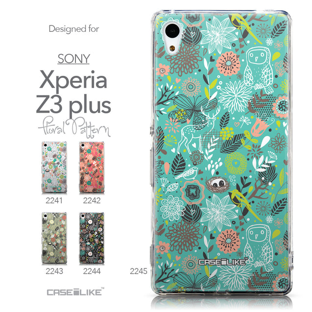 Collection - CASEiLIKE Sony Xperia Z3 Plus back cover Spring Forest Turquoise 2245