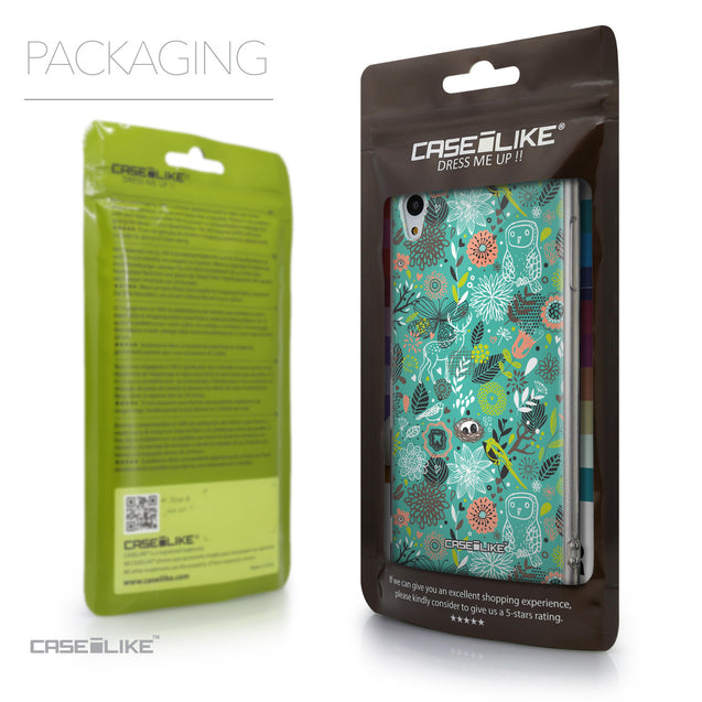 Packaging - CASEiLIKE Sony Xperia Z3 Plus back cover Spring Forest Turquoise 2245
