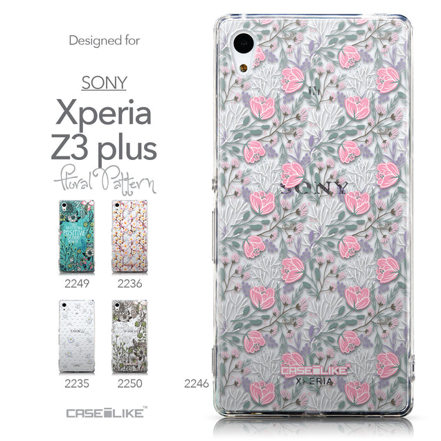 Collection - CASEiLIKE Sony Xperia Z3 Plus back cover Flowers Herbs 2246