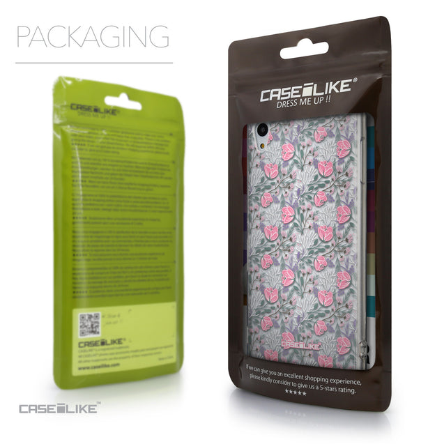 Packaging - CASEiLIKE Sony Xperia Z3 Plus back cover Flowers Herbs 2246