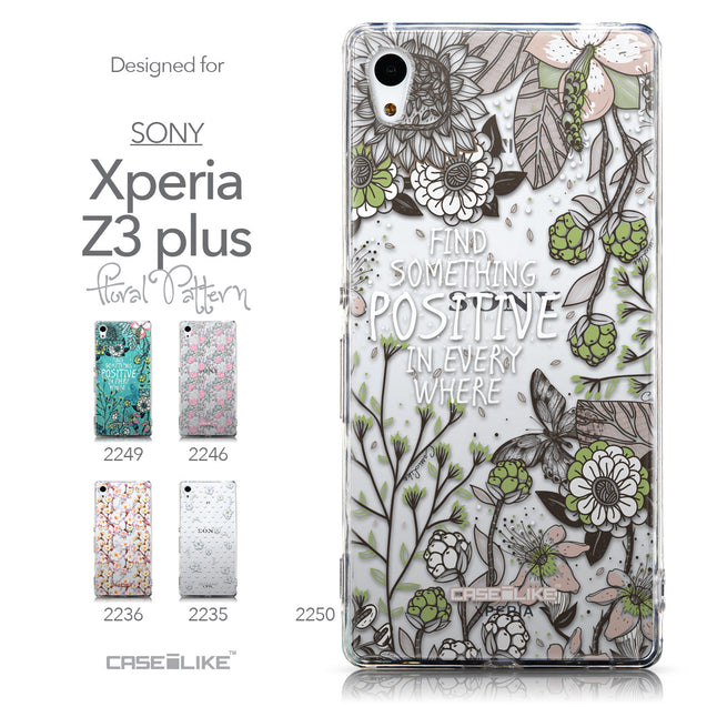 Collection - CASEiLIKE Sony Xperia Z3 Plus back cover Blooming Flowers 2250