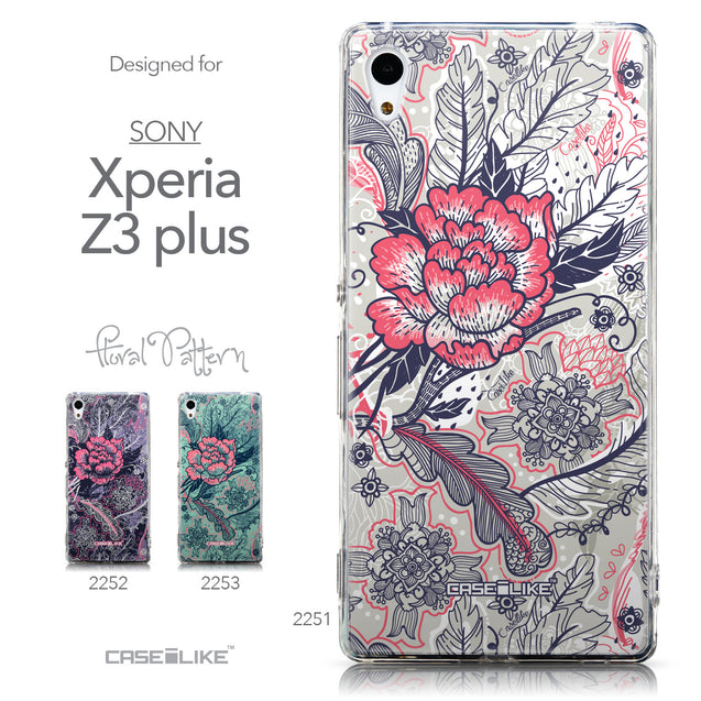 Collection - CASEiLIKE Sony Xperia Z3 Plus back cover Vintage Roses and Feathers Beige 2251