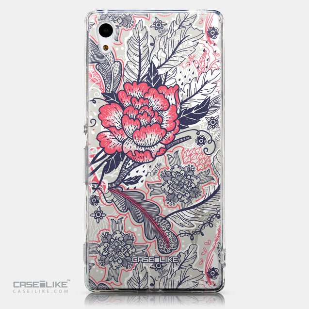 CASEiLIKE Sony Xperia Z3 Plus back cover Vintage Roses and Feathers Beige 2251