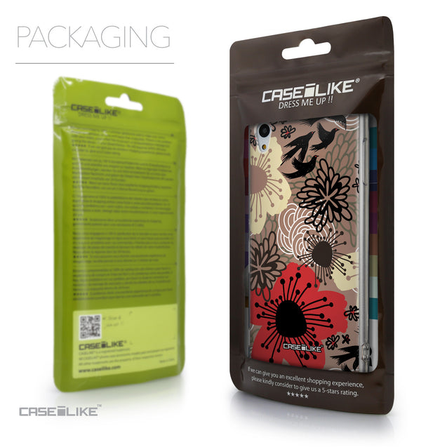 Packaging - CASEiLIKE Sony Xperia Z3 Plus back cover Japanese Floral 2254
