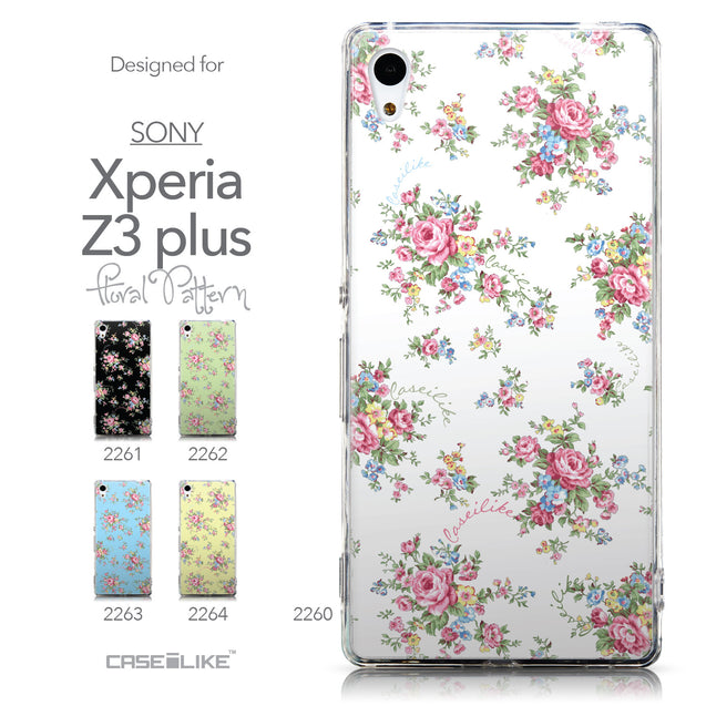Collection - CASEiLIKE Sony Xperia Z3 Plus back cover Floral Rose Classic 2260