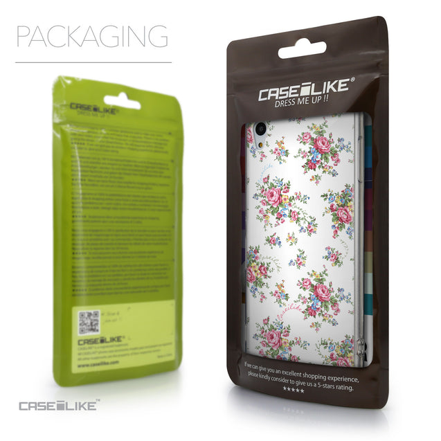 Packaging - CASEiLIKE Sony Xperia Z3 Plus back cover Floral Rose Classic 2260