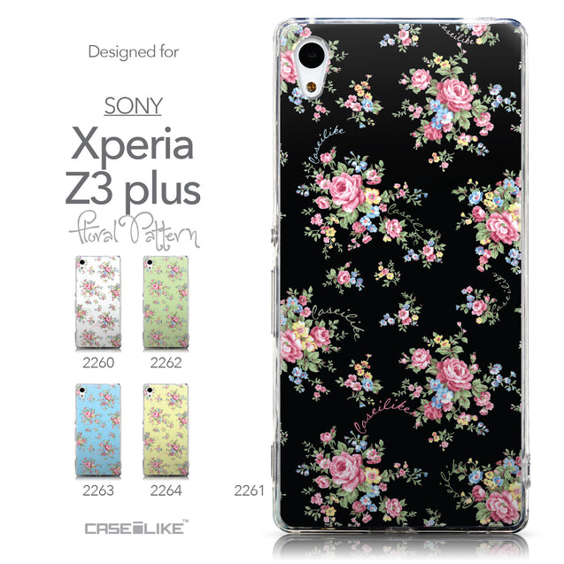 Collection - CASEiLIKE Sony Xperia Z3 Plus back cover Floral Rose Classic 2261