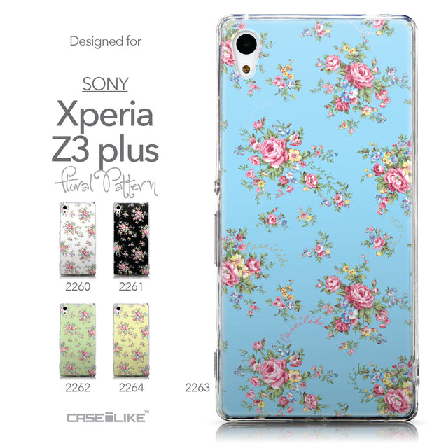 Collection - CASEiLIKE Sony Xperia Z3 Plus back cover Floral Rose Classic 2263