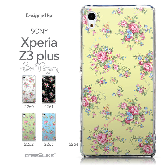 Collection - CASEiLIKE Sony Xperia Z3 Plus back cover Floral Rose Classic 2264