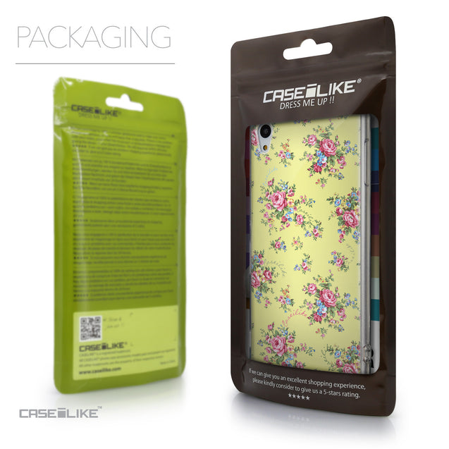 Packaging - CASEiLIKE Sony Xperia Z3 Plus back cover Floral Rose Classic 2264