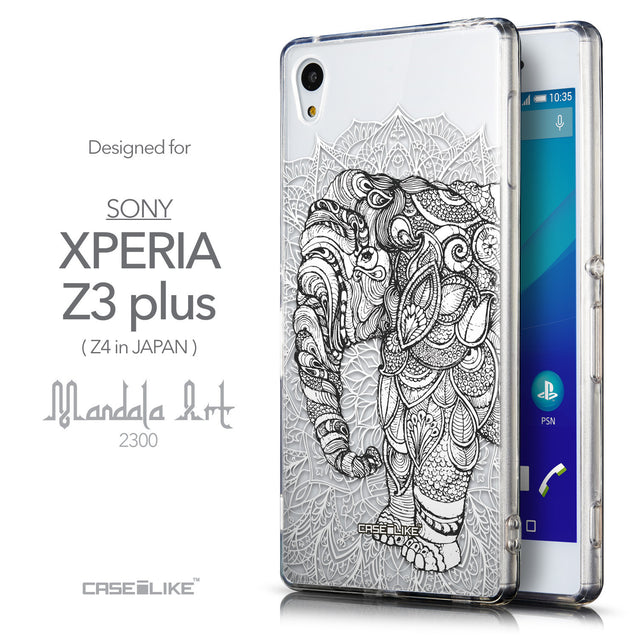 Front & Side View - CASEiLIKE Sony Xperia Z3 Plus back cover Mandala Art 2300