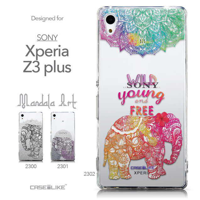 Collection - CASEiLIKE Sony Xperia Z3 Plus back cover Mandala Art 2302