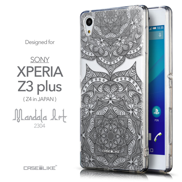 Front & Side View - CASEiLIKE Sony Xperia Z3 Plus back cover Mandala Art 2304