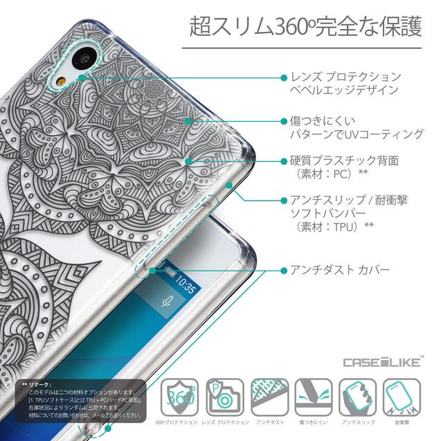 Details in Japanese - CASEiLIKE Sony Xperia Z3 Plus back cover Mandala Art 2304