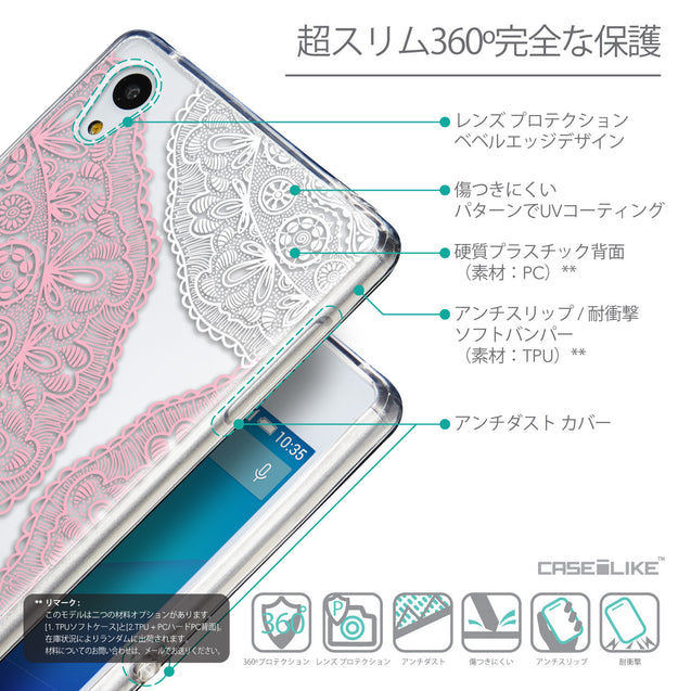Details in Japanese - CASEiLIKE Sony Xperia Z3 Plus back cover Mandala Art 2305