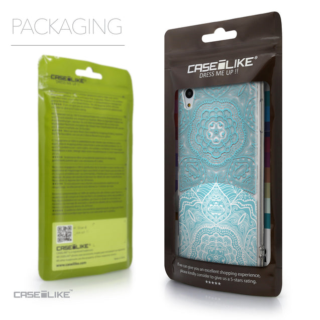 Packaging - CASEiLIKE Sony Xperia Z3 Plus back cover Mandala Art 2306