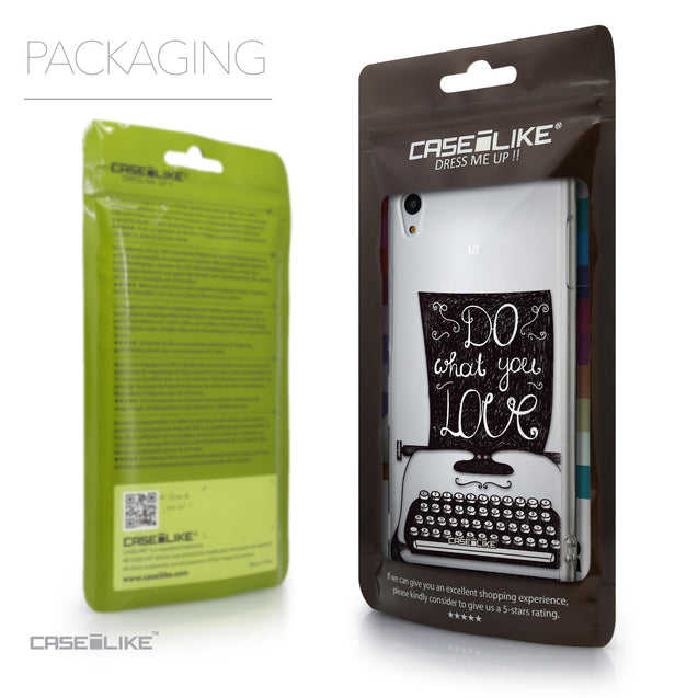 Packaging - CASEiLIKE Sony Xperia Z3 Plus back cover Quote 2400