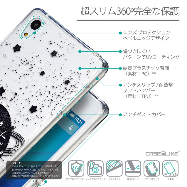 Details in Japanese - CASEiLIKE Sony Xperia Z3 Plus back cover Quote 2401