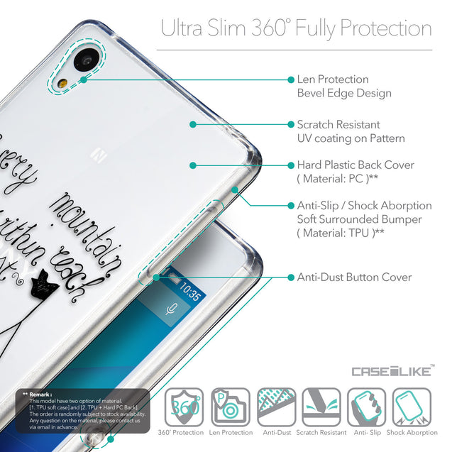 Details in English - CASEiLIKE Sony Xperia Z3 Plus back cover Indian Tribal Theme Pattern 2053