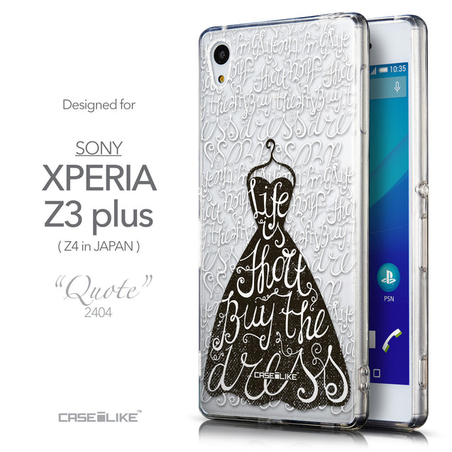 Front & Side View - CASEiLIKE Sony Xperia Z3 Plus back cover Indian Tribal Theme Pattern 2053